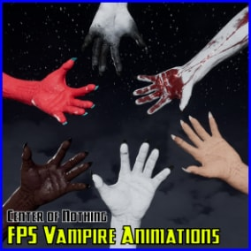Quality First Person Animations on highly detailed, 4K FPS Vampire Arms rigged to the default Epic Skeleton.