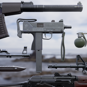 7 weapons and 4 attachments optimized for FPS.