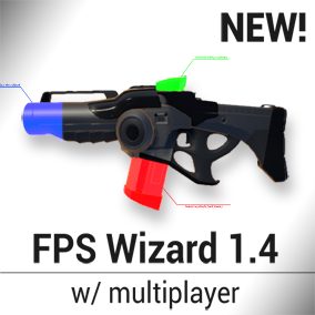 FPS Wizard is a plugin that allows you to create a multiplayer FPS game without having to write a single line of code.