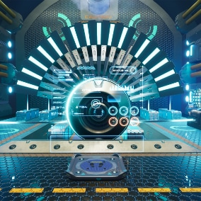 This is the game ready futuristic sci fi power plant generator room, consist of essential props.