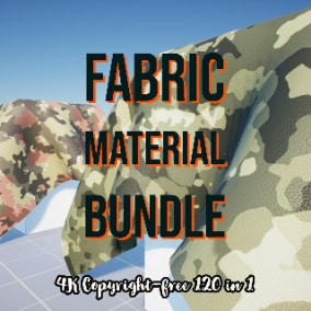 4K Fabric Material Collection includes 120 different fabric, leather, and cloth textures.