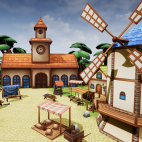 This package allows you to create your own village in a fantasy style.