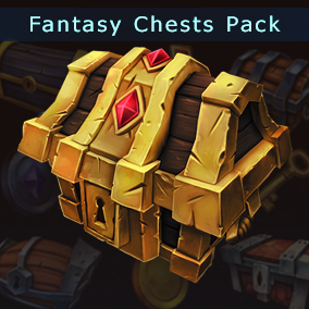 12 Stylized Chests 6 coins and 6 keys