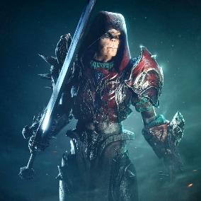 Fantasy Warrior game character.