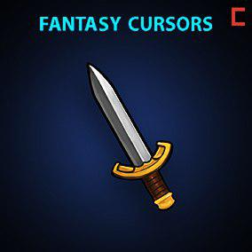 16 fantasy hand-painted cursors and 8 buttons(with transparency).