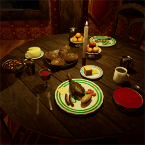 A variety of detailed food models for use in your games.