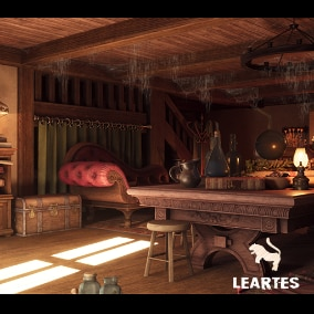 Fantasy Interior Environment with 182 Assets