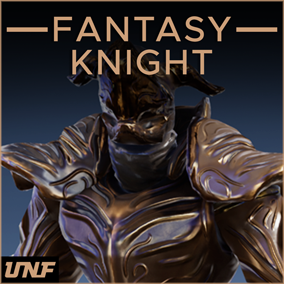This pack contains a fantasy knight character with customizable materials for: helmet, arms, legs, accessories, breastplates, shoulder pads,  and cloth.