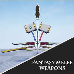 Five Fantasy Melee weapon