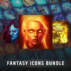 Set of 500 hand painted skill and spell effects icons.