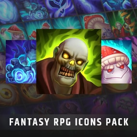 Set of 100 hand painted skill and spell effects icons.