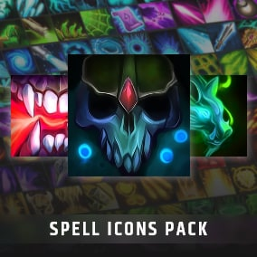 Set of 150 hand painted skill and spell effects icons.