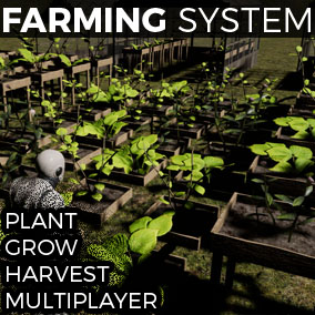 A simple farming system, plant, grow and harvest