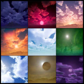 Well optimized dynamic sky material and advanced weather system. Excellent choice for stylized games.