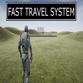 A fast travel system for RPG game projects to travel from one destination to another based on map locations.