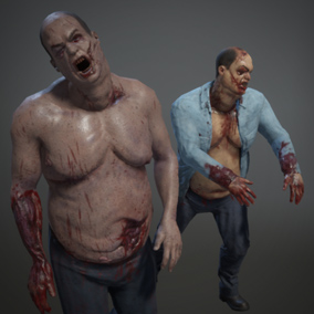 Two Fat Zombie Models