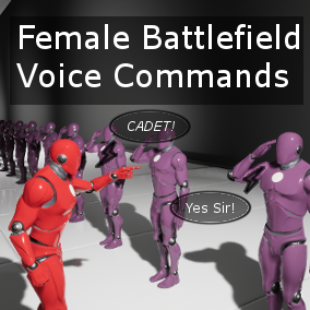75 American female accent military commands