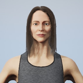 Female Fitness Trainer fully rigged to the epic skeleton with realistic textures.
