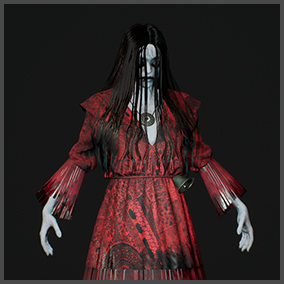 Female Ghost in Red