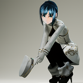An animation stylized female with dual handgun.
