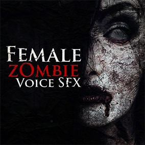 Female Zombie Voice Sound Effects is a premium audio package with more than 190 zombie sounds.
