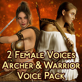 90 phrases of 2 different women vocals - Archer & Fighter. Great for fantasy, rts, rpg, adventure games.