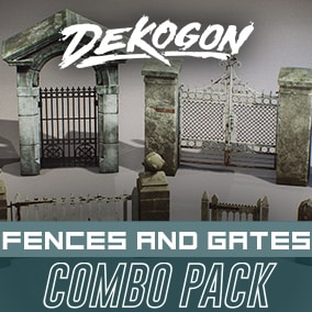 A collection of fence and gate assets that can be used for games!