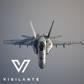 The F/A-18C Hornet Fighter Jet is fully rigged, has animated wheels, canopy, flaps and internal 20mm gun mounted in the nose.  This vehicle is DIS/HLA (RPR FOM) Integration ready. Designed for simulations.