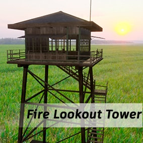 A high-poly pack designed to create scenes with a tower for observing fires in the forest.