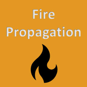 A basic fire propagation system made in Blueprint.