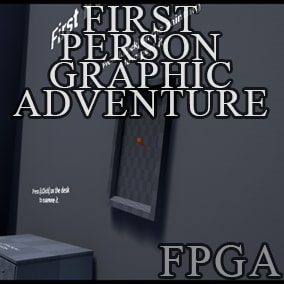 A template inspired by first person adventures of late 90s.