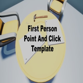 The First Person Point And Click Template is a fully blueprint based template meant to make 3D versions of first person point and click games, games from the 90's like A Case for Cap & Co  and more recent ones also like Myst or The Room.