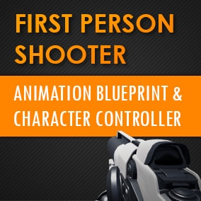 A full First Person Shooter animation blueprint and character controller