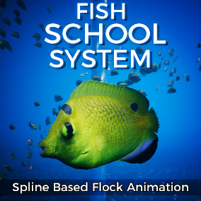 This system allows you to easily animate thousands of swimming creatures.