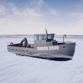 Fishing boat - for VR or other project, simulator.