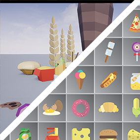 Create the feast of your dreams with this Asset Pack consisting of many different food items!