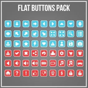 200+ Flat Game Buttons