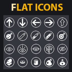 172 flat icons with multiple color variations