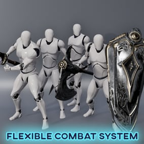 Super Flexible Combat System which allows different combat styles for your character & AI. Along with other cool features such as Assassinations and Kill cams. Implemented entirely in Blueprints.