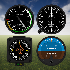 Precision flying with the Flight Instrument Pack.
