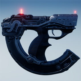 FlipGun Sci-Fi weapon from the future, with animations.