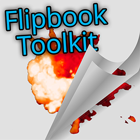 An editor window with tools for playing, inspecting, and visualizing flipbooks