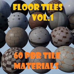 A pack of 60 Tile PBR Materials  (20 Patterns with 3 Color Variations)