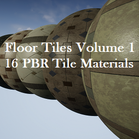 A pack of 16 Floor Tile PBR Materials.