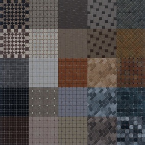 A collection of 30 different Tile materials in 4K