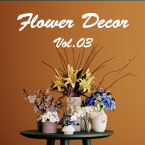 8 high quality flower and vase