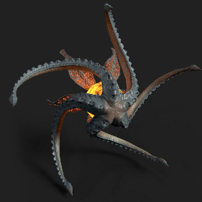 Flying Monster with animations