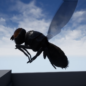 Low poly creature, rigged, skinned, animated, has its own AI