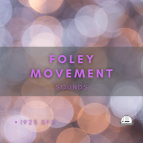 A collection of 1923 foley footsteps and object movement sounds.