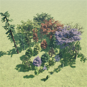 Collection of some commonly seen tree models.